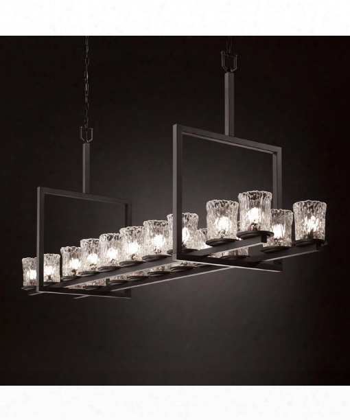 "Veneto Luce Dakota 72"" 20 Light Chandelier In Matte Black"