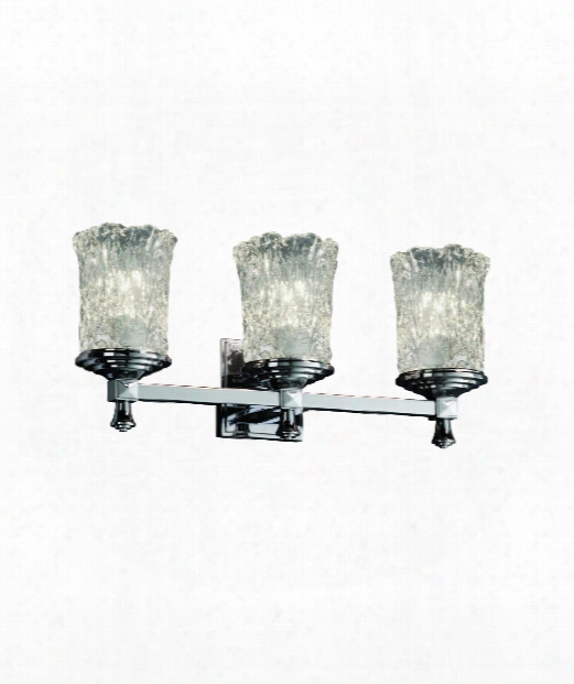 "Veneto Luce Deco 21"" 3 Light Bath Vanity Light In Chrome"
