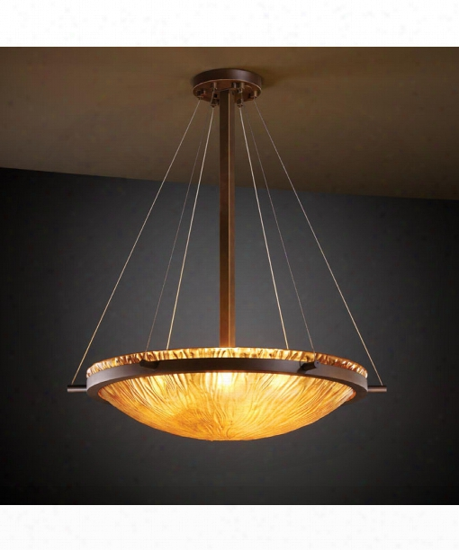 "Veneto Luce Ring 27"" 6 Light Large Pendant In Unilluminated Bronze"