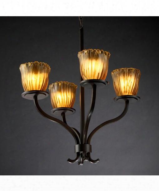 "Veneto Luce Sonoma 23"" 4 Light Chandelier In Dark Bronze"