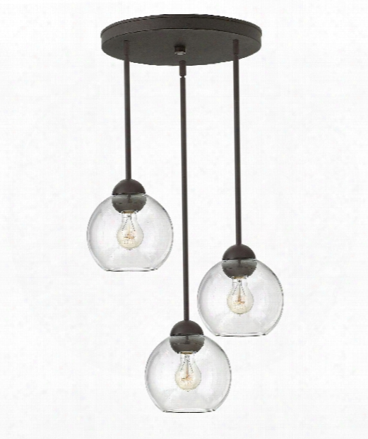 "Vivo 19"" 3 Light Large Pendant In Vintage Bronze"