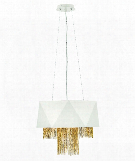 "Zuma 18"" 6 Light Large Pendant In Warm White"