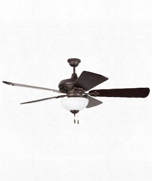 2 Light Ceiling Fan In Aged Bronze-vintage Madera