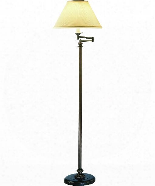 """Abbey Bronze 10"""" 1 Light Floor Lamp In Victorian Bronze"""