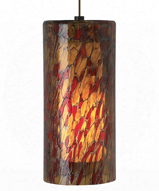 "Abbey Grande 7"" 1 Light Mini Pendant In Bronze"