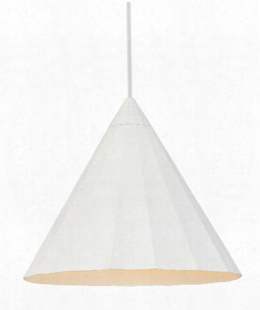 "Astora 12"" 1 Light Mini Pendant In White"