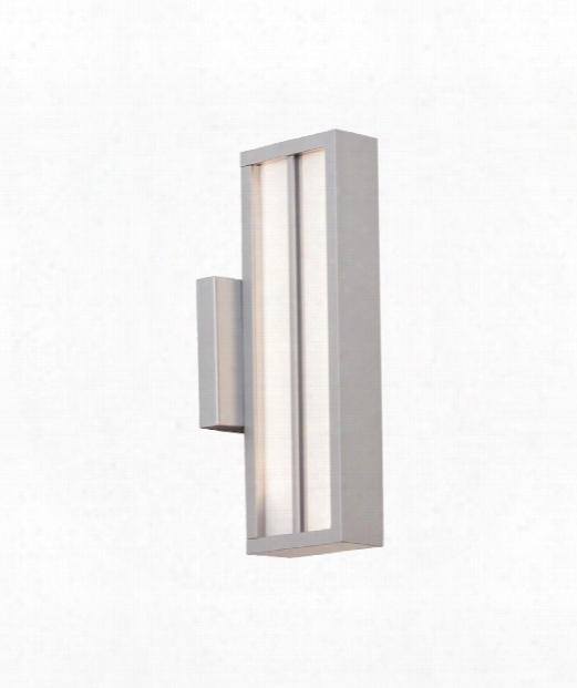 """Aviva 4"""" Led 1 Light Outdoor Outdoor Wall Light In Silver"""