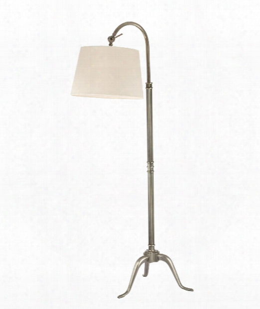 "Burton 15"" 1 Light Reading Lamp In Aged Silver"