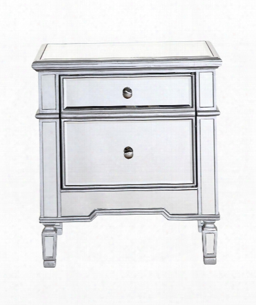 """Chamberlain 16"""" Drawer Chest In Silver Paint"""