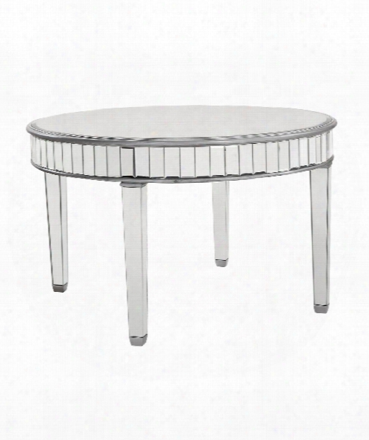 Chamberlain 48&qu Ot; Accent Table In Silver Paint