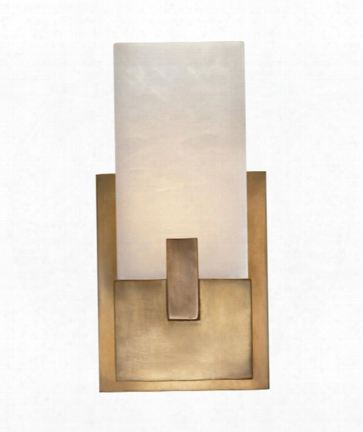 "Covet 6"" 1 Light Wall Sconce In Antique Burnished Brass"