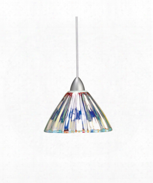"Eden 5"" 1 Light Mini Pendant In Brushed Nickel"