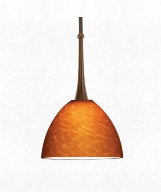 "Feberge 6"" 1 Light Mini Pendant In Dark Bronze"