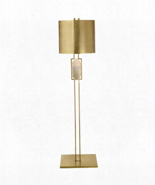 """Halcyon 17"""" 2 Light Floor Lamp In Ant Ique Burnished Brass"""