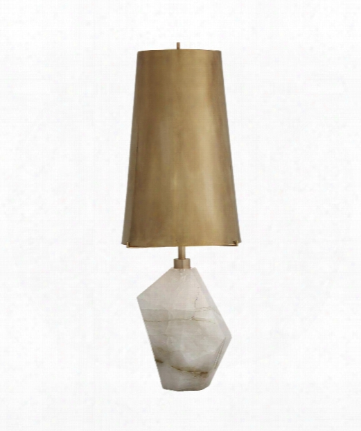 "Halcyon 8"" 1 Light Table Lamp In Natural Quartz Stone"
