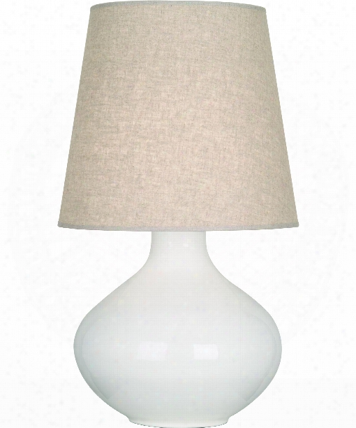 "June8 "" 1 Light Table Lamp In Polished Nickel-lily"