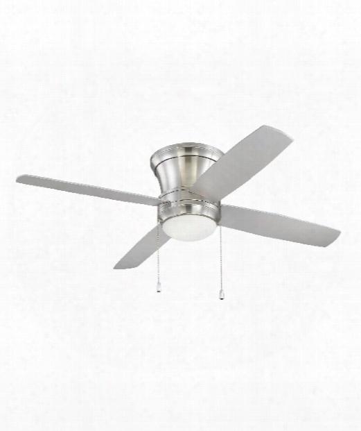 Laval Hugger 2 Light Ceiling Fan In Brushed Polished Nickel