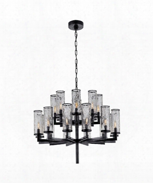 "Liaison 34"" 20 Light Chandelier In Bronze"