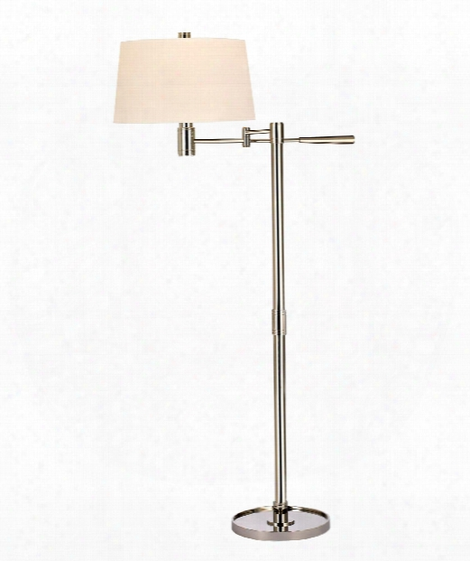 "Lindale 27"" 1 Light Reading Lamp In Polished Nickel"
