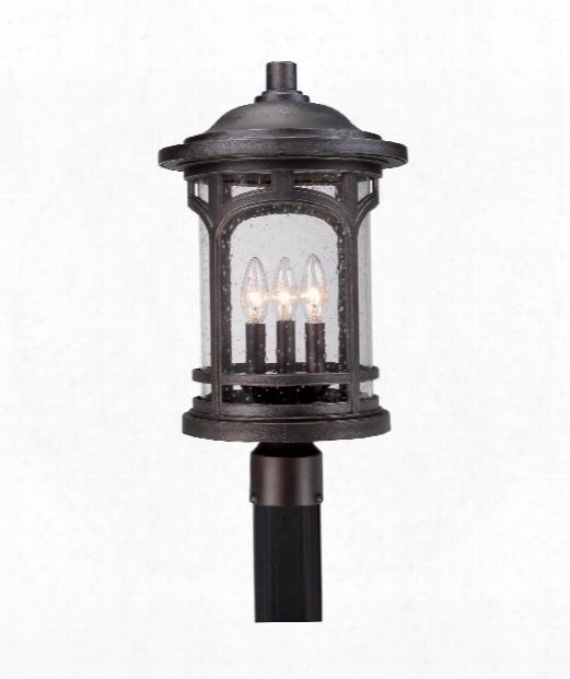 """Marblehead 11"""" 3 Light Outdoor Outdoor Post Lamp In Palladian Bronze"""