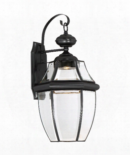 """Newbury Clear Led 11"""" Led 1 Light Outdoor Outdoor Wall Light In Mystic Black"""