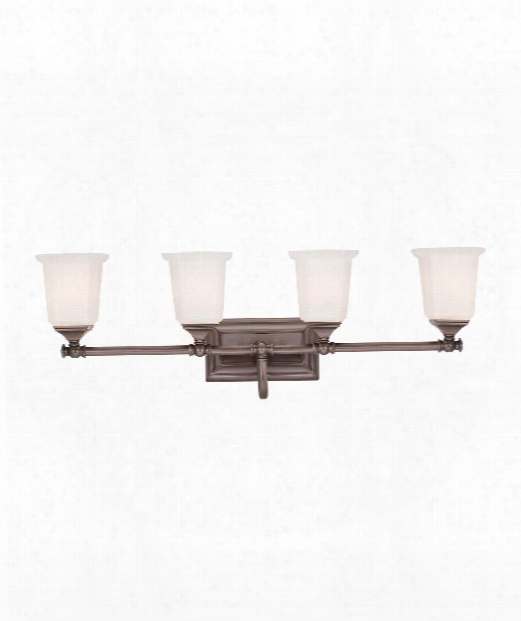"Nicholas 31"" 4 Light Bath Vanity Light In Harbor Bronze"