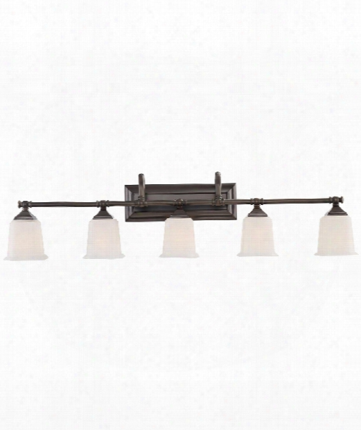 "Nicholas 42"" 5 Light Bath Vanity Light In Harbor Bronze"