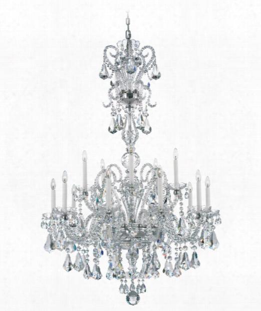 "Novielle 35"" 20 Light Chandelier In Polished Silver"