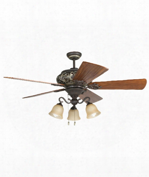 Ophelia 3 Light Ceiling Fan In Aged Br Onze-vintage Madera