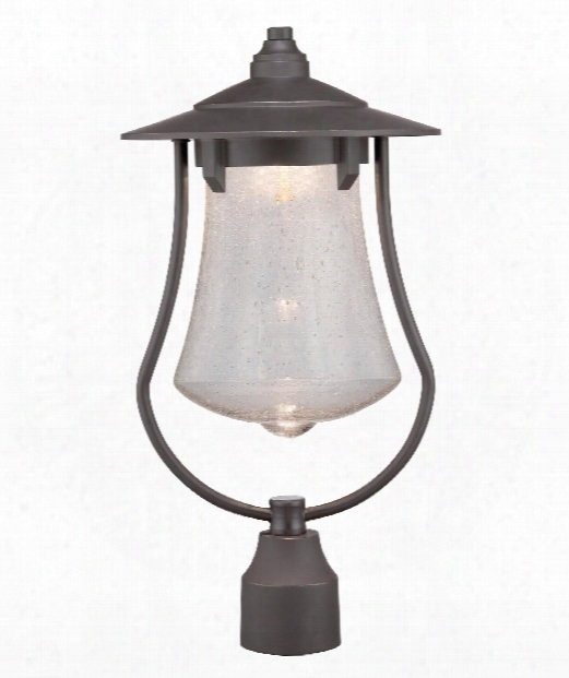 "Paxton 10"" Led Outdoor Outdoor Post Lamp In Aged Bronze Patina"