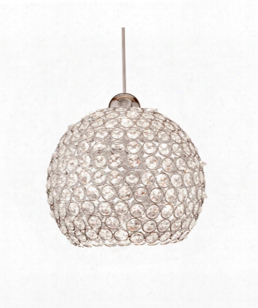 "Roxy 8"" Led 1 Light Mini Pendant In Brushed Nickel"