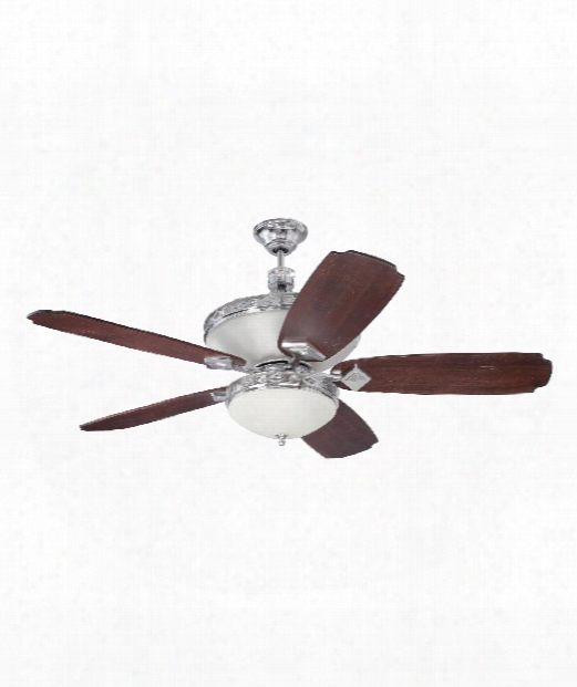 Saratoga 3 Light Ceiling Fan In Chrome