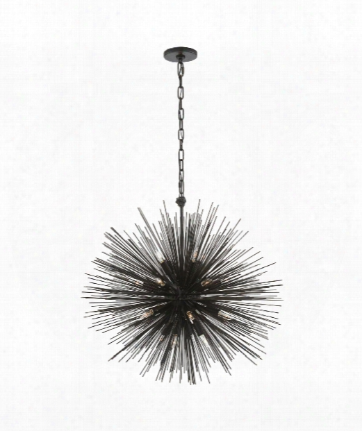 "Strada 28"" 20 Light Chandelier In Aged Iron"