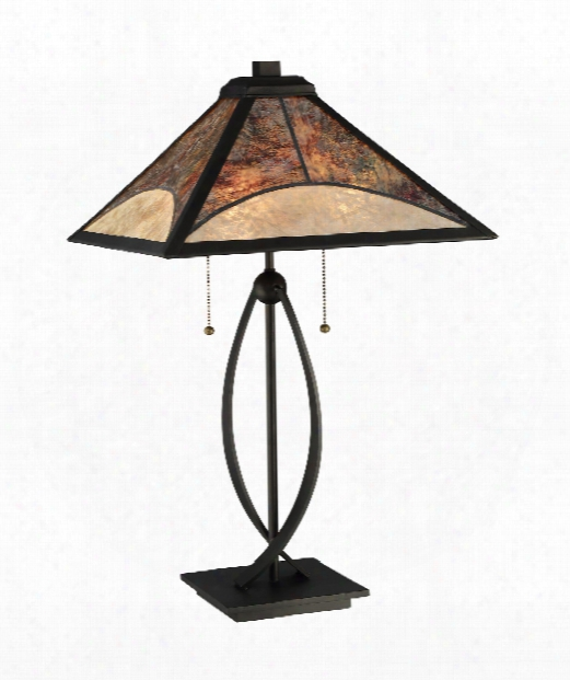 "Theory 15"" 2 Light Table Lamp In Dark Bronze"
