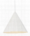 "Astora Grande 18"" 1 Light Large Pendant in White"