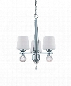 "Astoria 20"" 3 Light Mini Chandelier in Chrome"