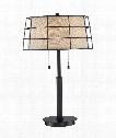 """Landings 16"""" 2 Light Table Lamp in Mottled Cocoa"""