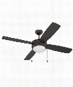 Laval 52 2 Light Ceiling Fan in Espresso