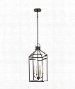 "Lexington 10"" 4 Light Mini Pendant in Western Bronze"