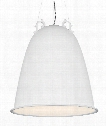 "Malka 21"" 4 Light Large Pendant in Rubberized White"