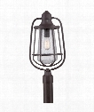 """Marine 12"""" 1 Light Outdoor Outdoor Post Lamp in Western Bronze"""