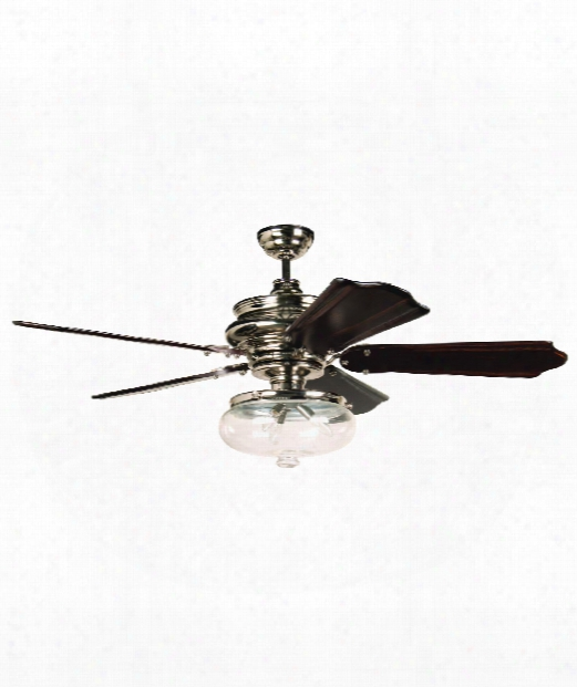 Townsend 3 Light Ceiling Fan In Polished Nickel