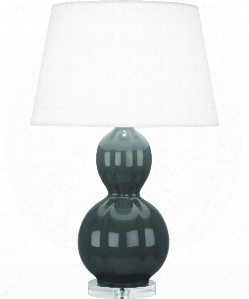 "Williamsburg Randolph 7"" 1 Light Table Lamp In Lucite-black Glazed"