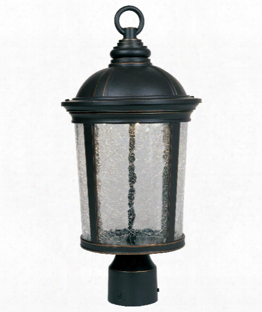 "Winston 9"" Led Outdoor Outdoor Post Lamp In Aged Bronze Patina"