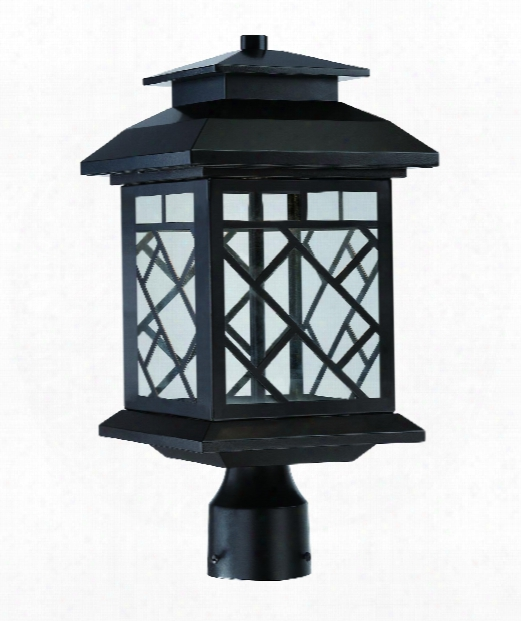 """Woodmere 9"""" Led Outdoor Outdoor Post Lamp In Oil Rubbed Bronze"""
