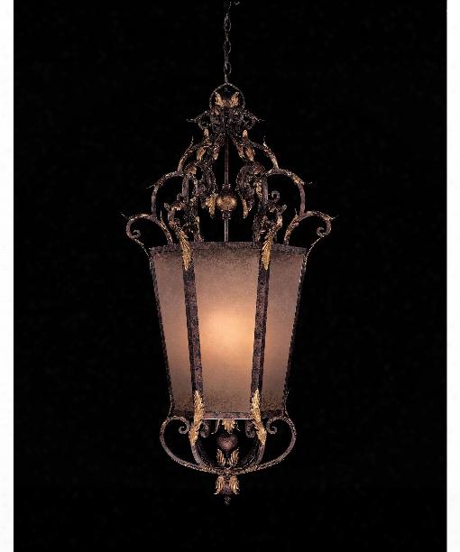 """Zaragoza 26"""" 8 Light Foyer Pendant In Golden Bronze"""