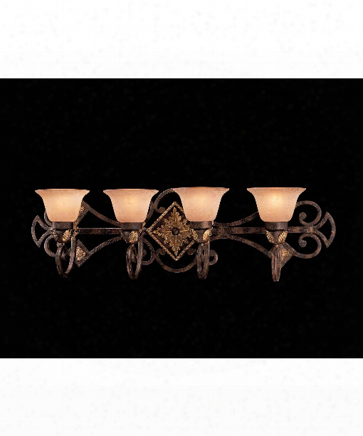 "Zaragoza 37"" 4 Light Bath Vanity Light In Golden Bronze"
