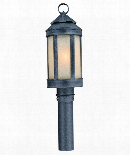 """Anderson's Forge 7"""" 1 Light Outdoor Outdoor Post Lamp In Antique Iron"""