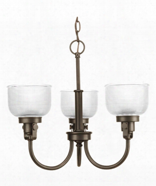 "Archie 20"" 3 Light Mini Chandelier In Venetian Bronze"