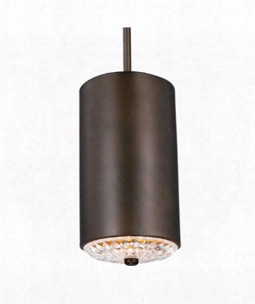 "Botanic 6"" 1 Light Mini Pendant In Dark Aged Brass"